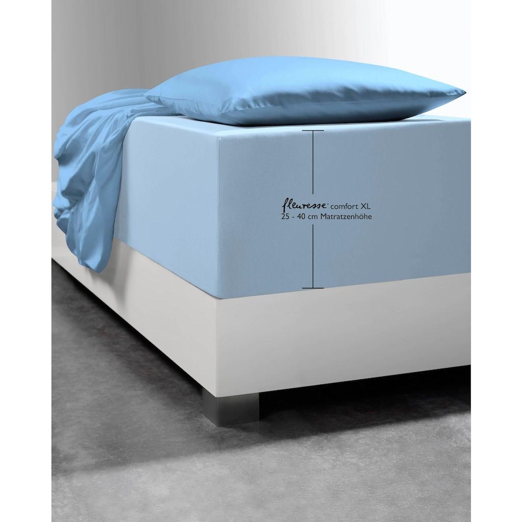 fleuresse Spannbettlaken »Comfort XL«, mit Elasthan für besonders hohe Matratzen