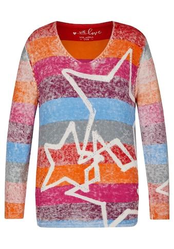 VIA APPIA DUE Fröhlicher Pullover mit Ringel-Muster Plus Size kaufen