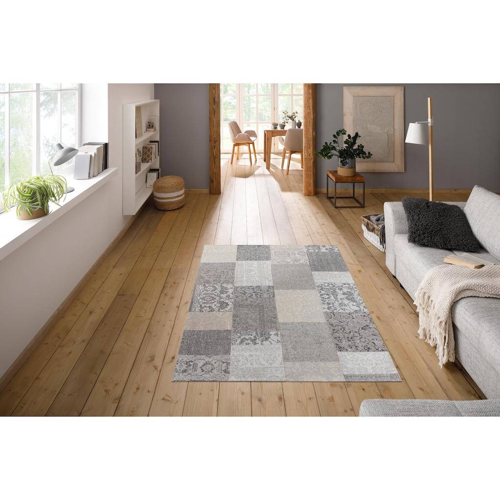 My HOME Teppich »Pikria«, rechteckig, 8 mm Höhe, Vintage-Optik, Wohnzimmer
