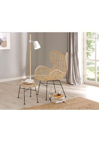 Home affaire Sessel »Malger«, aus einem schönen Rattangeflecht und einem edlen Metallgestell, in zwei verschiedenen Farbvarianten kaufen