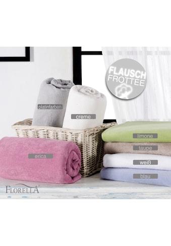 Florella Spannbettlaken »Soft Frottee Spannbetttuch« kaufen
