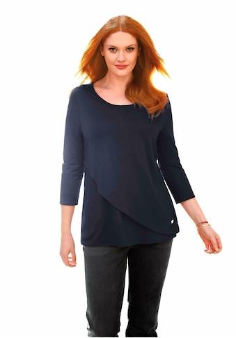 Anna Aura 3/4-Arm-Shirt »viscose«, Logo kaufen