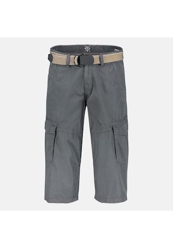 LERROS Cargobermudas »3/4-Style«, unifarben, mit Gürtel kaufen