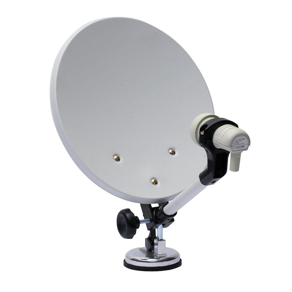 TELESTAR SAT-Receiver »Camping Sat Anlage mit Single-LNB und TELEMINI HD+«, inkl. HD+ Karte,12V mobil