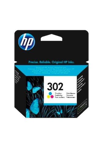 HP Tintenpatrone »hp 302 color (c/m/y) F6U65AE, original, Multipack« kaufen