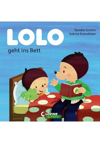 Buch »Lolo geht ins Bett / Sandra Grimm, Loewe Von Anfang An, Sabine Kraushaar« kaufen
