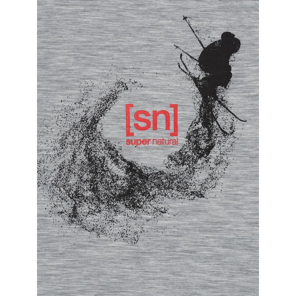 SUPER.NATURAL T-Shirt »M FREESTYLE TEE«, bequemer Merino-Materialmix