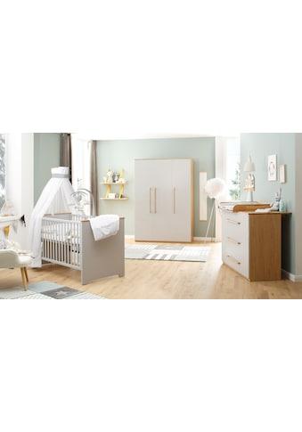 Lüttenhütt Baby Babyzimmer-Komplettset »Lauris, grau/eiche«, (Set, 3 St.), FSC®-Holz... kaufen