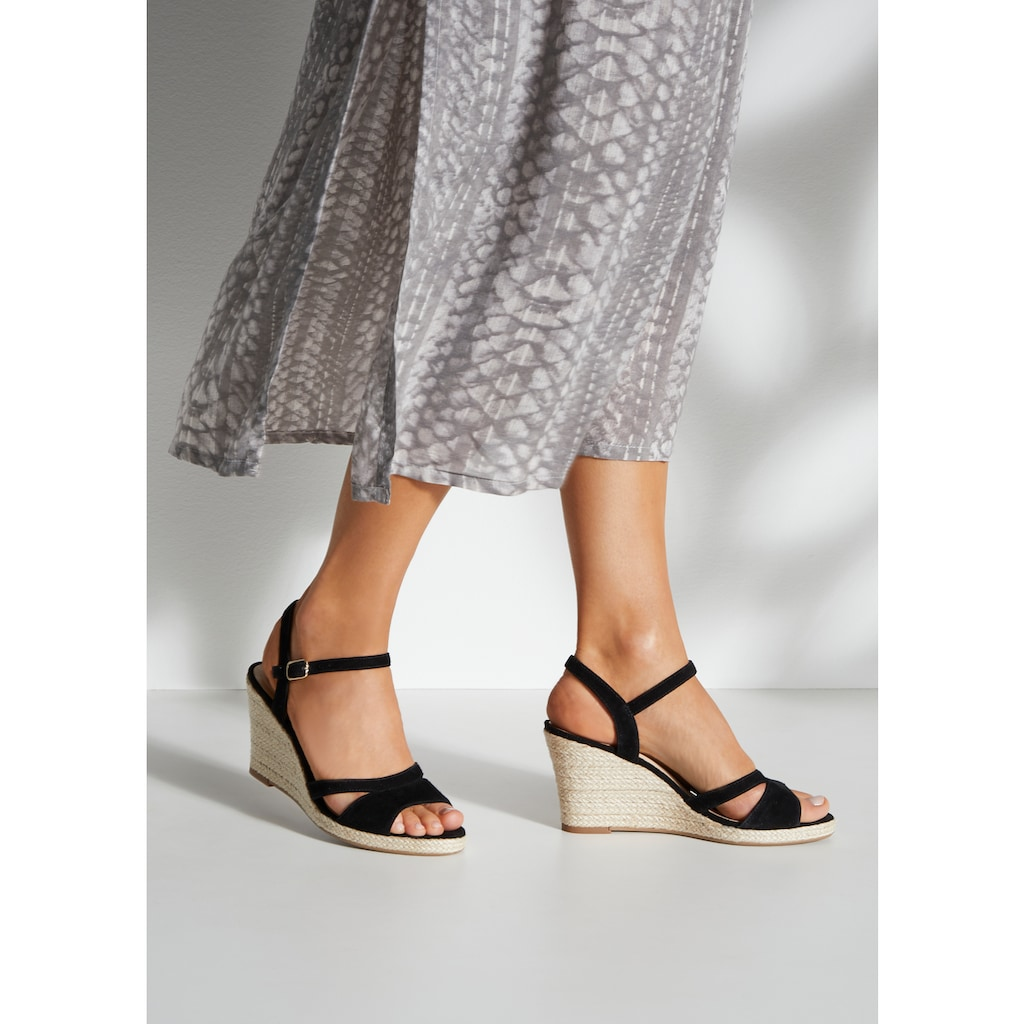 LASCANA Sandalette, mit Keilabsatz