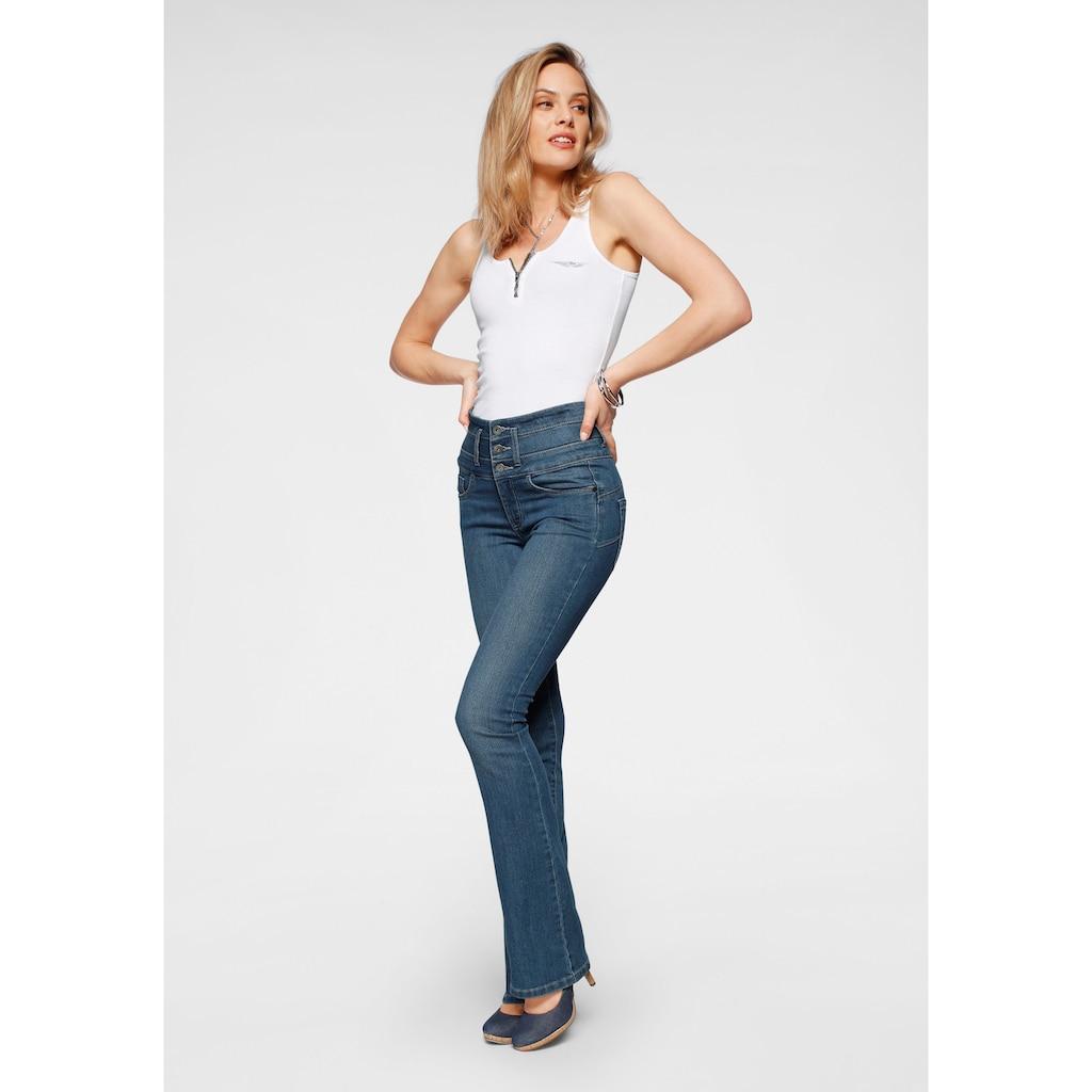 Arizona Bootcut-Jeans »mit extrabreitem Bund«, High Waist