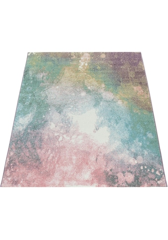 Paco Home Teppich »Mero 100«, rechteckig, 17 mm Höhe, Kurzflor, Pastell-Farben,... kaufen