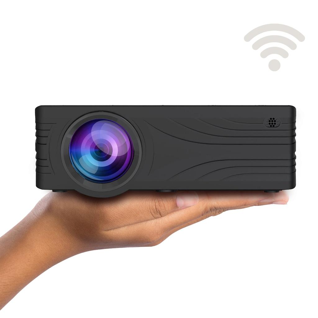 LA VAGUE LED-Beamer »LV-HD240 Wi-Fi«, (1000:1), schwarz, unterstützt 720p/1080p, ideal zum Streamen von Netflix