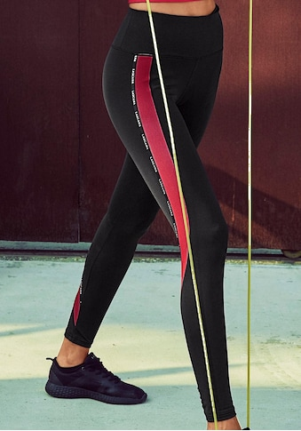 LASCANA ACTIVE Funktionsleggings »Technical Red«, mit kontrastfarbenen Streifen kaufen