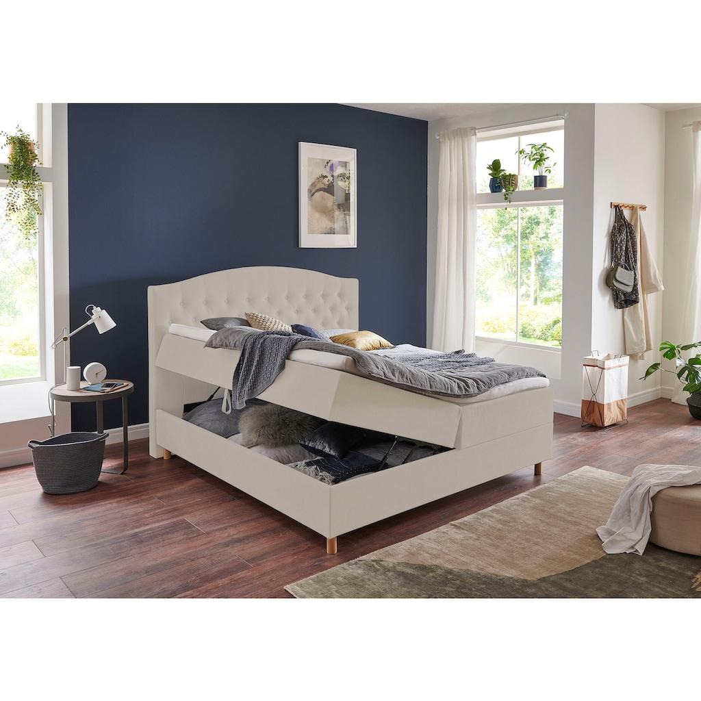 Home affaire Boxbett »Piemont«, mit Bettkasten und Topper
