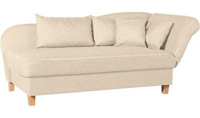 Max Winzer® Recamiere »Saturn«, Armlehne links oder rechts, inkusive 4 Kissen kaufen