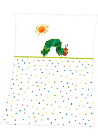 Babydecke »Die kleine Raupe Nimmersatt«, mit niedlichem Raupen-Motiv kaufen
