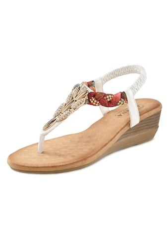 LASCANA Sandalette, mit Strasssteinchen und elastischen Riemen kaufen