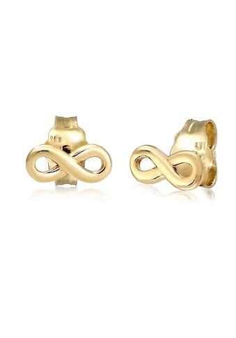 Elli Paar Ohrstecker »Stecker Infinity Symbol Unendlichkeit 585 Gelbgold« kaufen