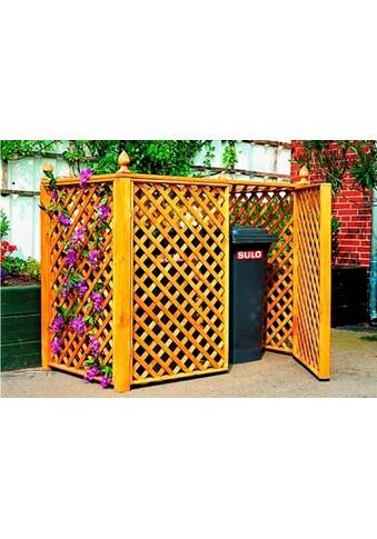 promadino Mülltonnenbox, für 2x240 l aus Holz, BxTxH: 164x89x136 cm kaufen