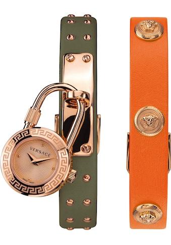 Versace Schweizer Uhr »Medusa Lock Icon, VEDW00519«, (Set, 3 tlg., mit zusätzlichem... kaufen