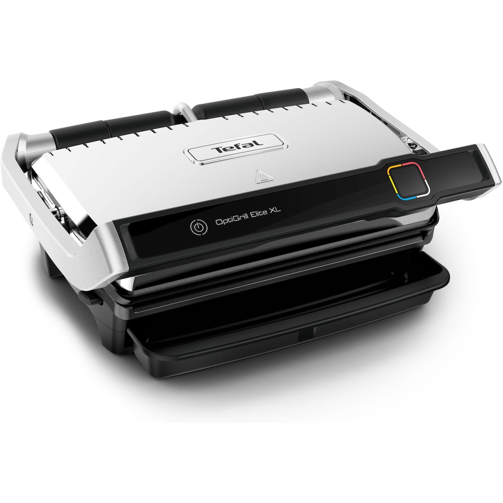 Tefal Kontaktgrill »GC760D Optigrill Elite XL«, 2200 W, 16 automatische Programme; Digital-Display; Countdown zum perfekten Grillergebnis; extra Grillboost für Grillstreifen