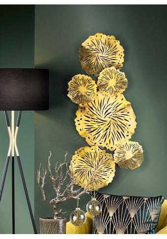 GILDE Wanddekoobjekt »Wandrelief Goldseerosenblätter« (1 Stück) kaufen