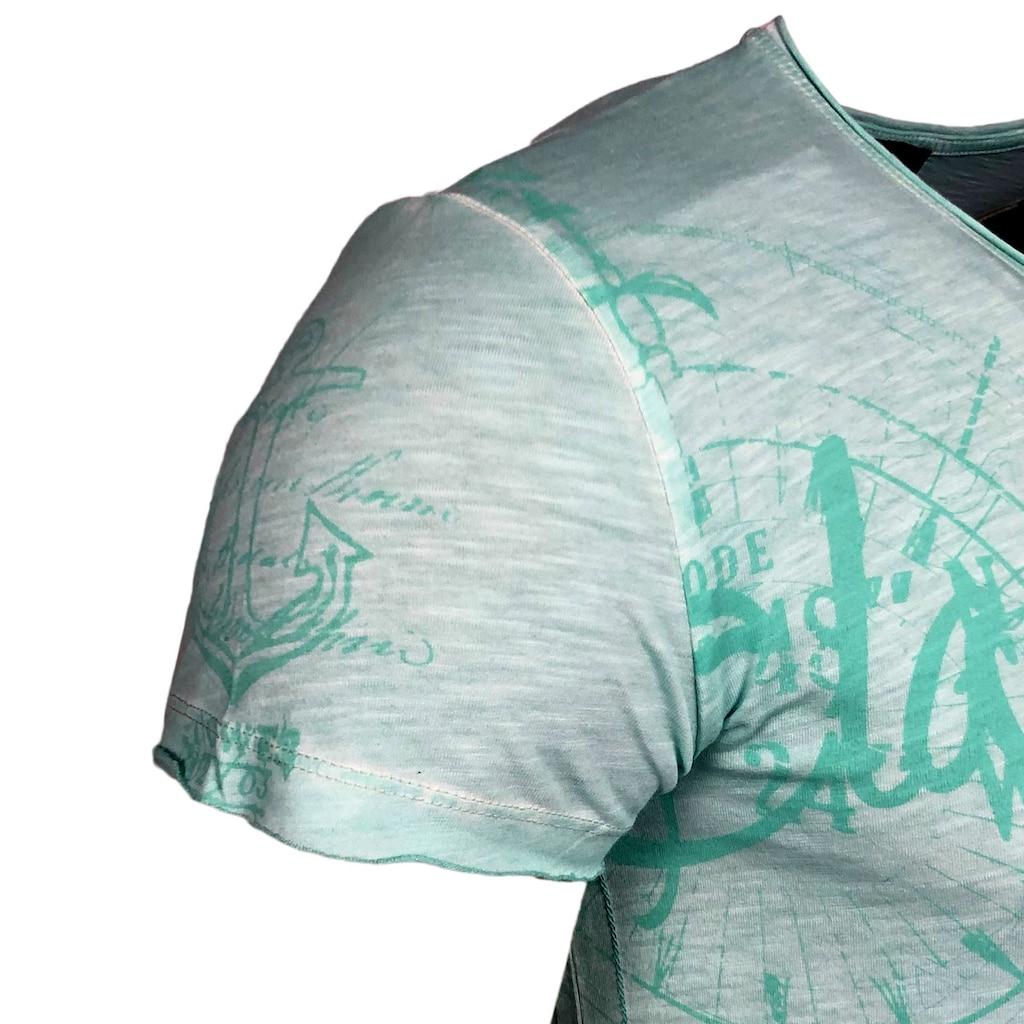 Rusty Neal T-Shirt mit coolem Frontprint