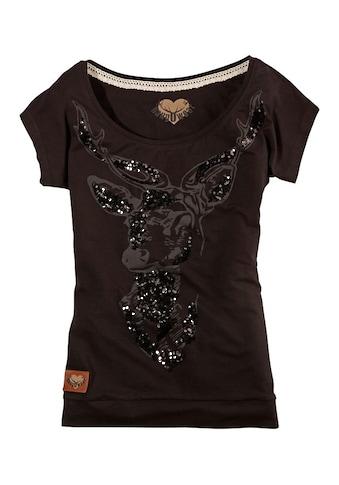 Hangowear Trachtenshirt, mit Hirsch-Aufdruck kaufen