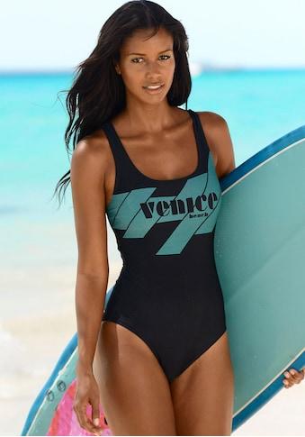 Venice Beach Badeanzug, mit sportlichem Logo-Druck und Shaping-Effekt kaufen