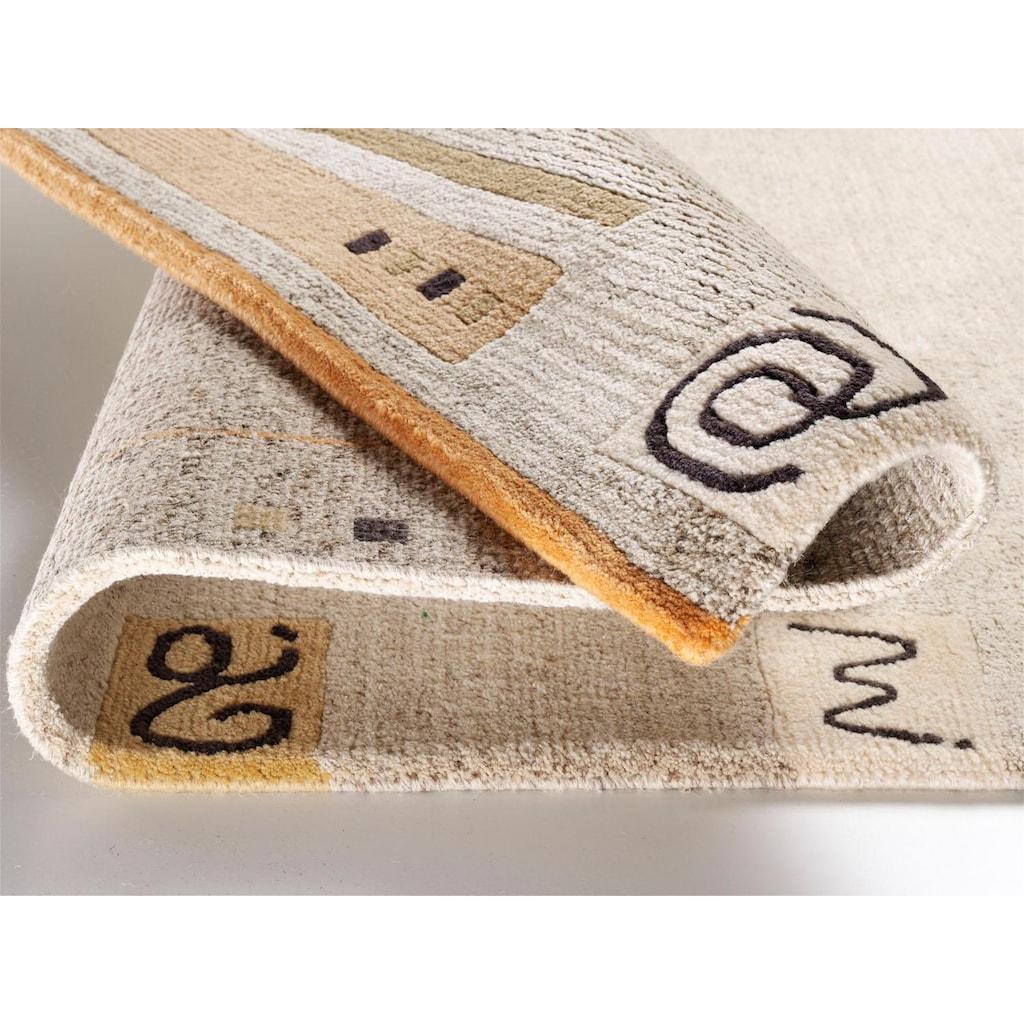 OCI DIE TEPPICHMARKE Wollteppich »Davina Malpi«, rechteckig, 20 mm Höhe, reine Wolle, handgeknüpft, Wohnzimmer