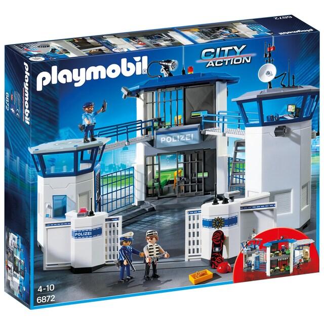 """Playmobil® Konstruktions-Spielset """"Polizei-Kommandozentrale mit Gefängnis (6872), City Action"""", Kunststoff"""