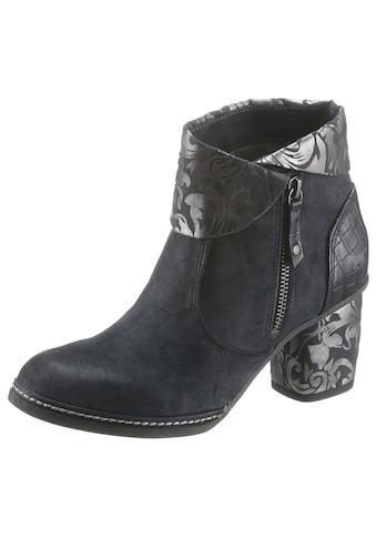 Mustang Shoes Stiefelette, mit Kroko-Prägnung an der Ferse kaufen