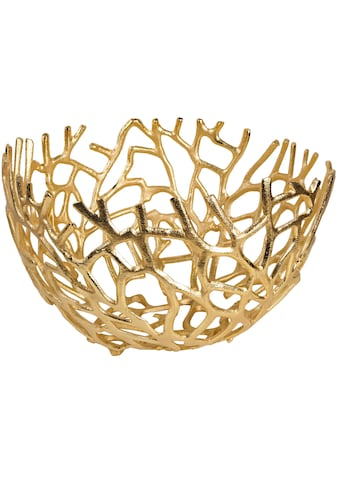 ARTRA Dekoschale »Aluminium Schale Elif in Gold Tischdekoration« kaufen