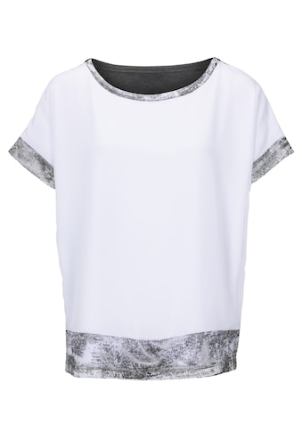 Blusenshirt im Materialmix kaufen