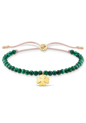 THOMAS SABO Armband »Kleeblatt, A1983-140-6-L20v«, mit imit. Malachit kaufen