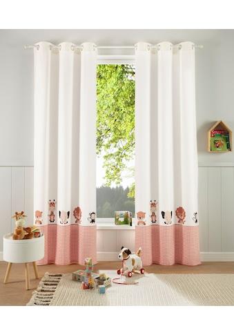 Lüttenhütt Gardine »Tiere«, Nachhaltige Kindergardine kaufen