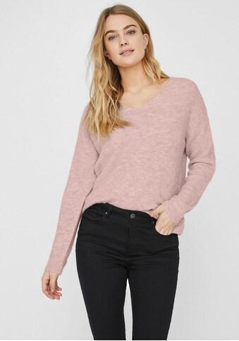Vero Moda V-Ausschnitt-Pullover »VMCREWLEFILE« kaufen