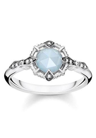 "THOMAS SABO Diamantring »Ring ""Vintage hellblau"", D_TR0043 - 902 - 31 - 48, 50, 52, 54, 56, 58, 60« kaufen"