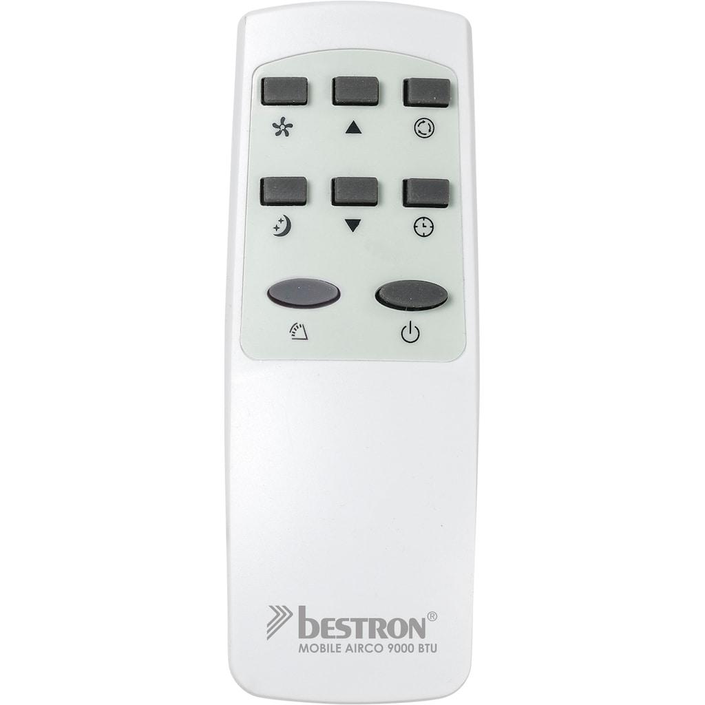 bestron Klimagerät »mobiles Gerät«, Kühlleistung 2,6 kW mit umweltfreundlichem Kühlmittel, 9.000BTU/h, Farbe: weiß