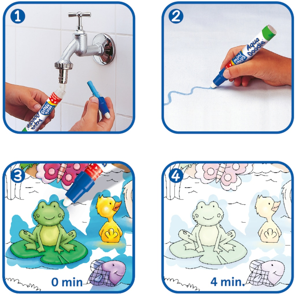 Ravensburger Kreativset »ministeps® Aqua Doodle® Puzzle: Heimische Tiere«, Made in Europe