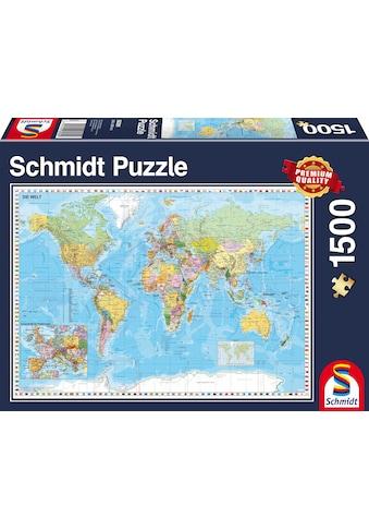 Schmidt Spiele Puzzle »Die Welt, 1500 Teile«, Made in Germany kaufen