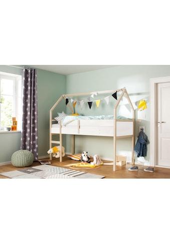 Lüttenhütt Hochbett »Janne«, aus schönem massivem Kiefernholz, Einzelbett, in einer... kaufen