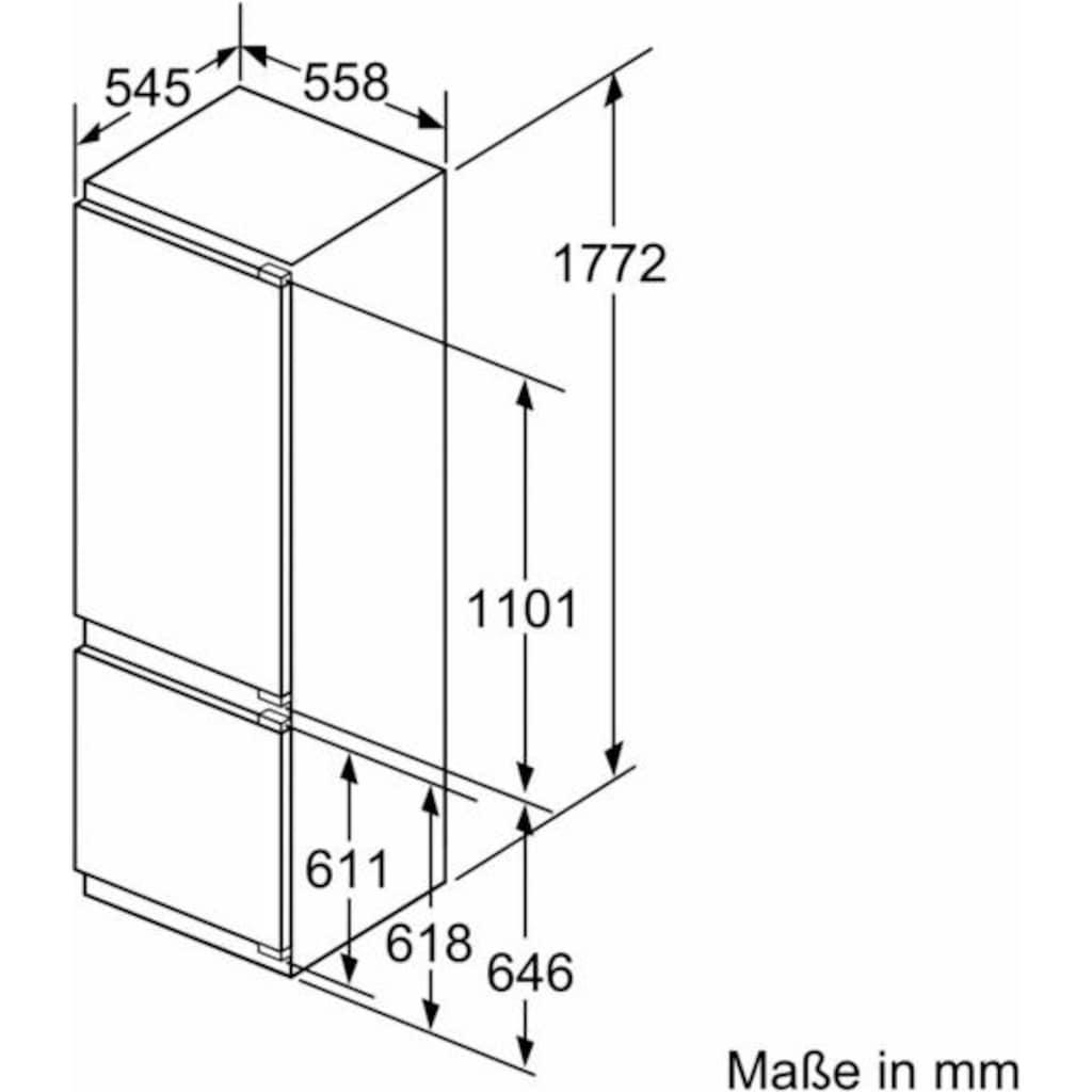 SIEMENS Einbaukühlgefrierkombination, 177,2 cm hoch, 54,5 cm breit