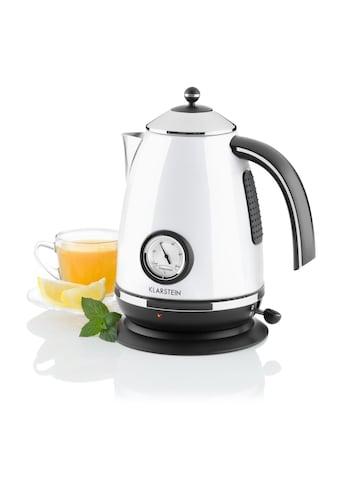 Klarstein Wasserkocher Teekessel 1,7 Liter 2200W weiß »Aquavita Chalet« kaufen