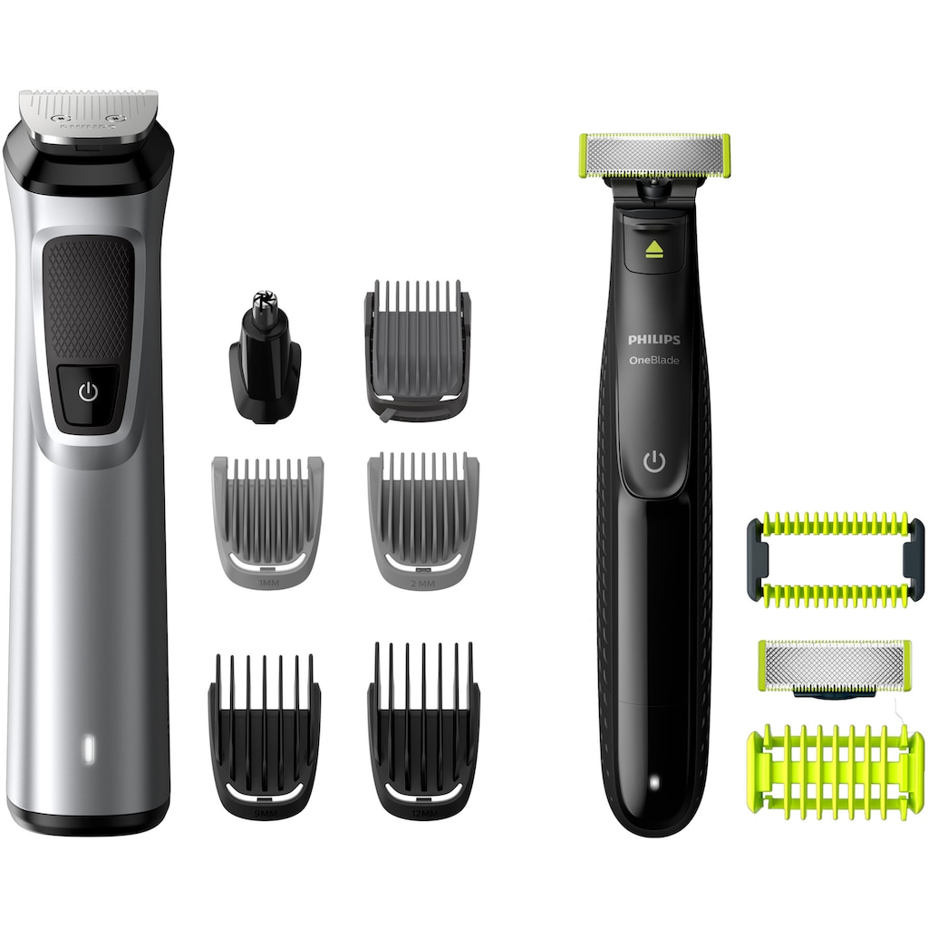 Philips Haar- und Bartschneider »MG9710/90 Multigroom Series 9000 & OneBlade Face+Body«, 12 Aufsätze, 12-in-1-Premium-Trimmset