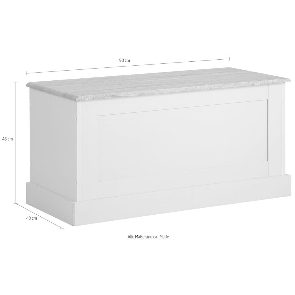 Home affaire Sitzbank »Binz«, in zwei unterschiedlichen Farbvarianten, mit Stauraum unter der Öffnungsklappe, Breite 90 cm