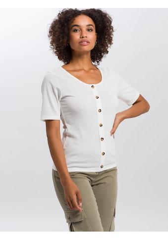 Cross Jeans® T-Shirt »55737«, Legeres T-Shirt mit Knopfleiste kaufen
