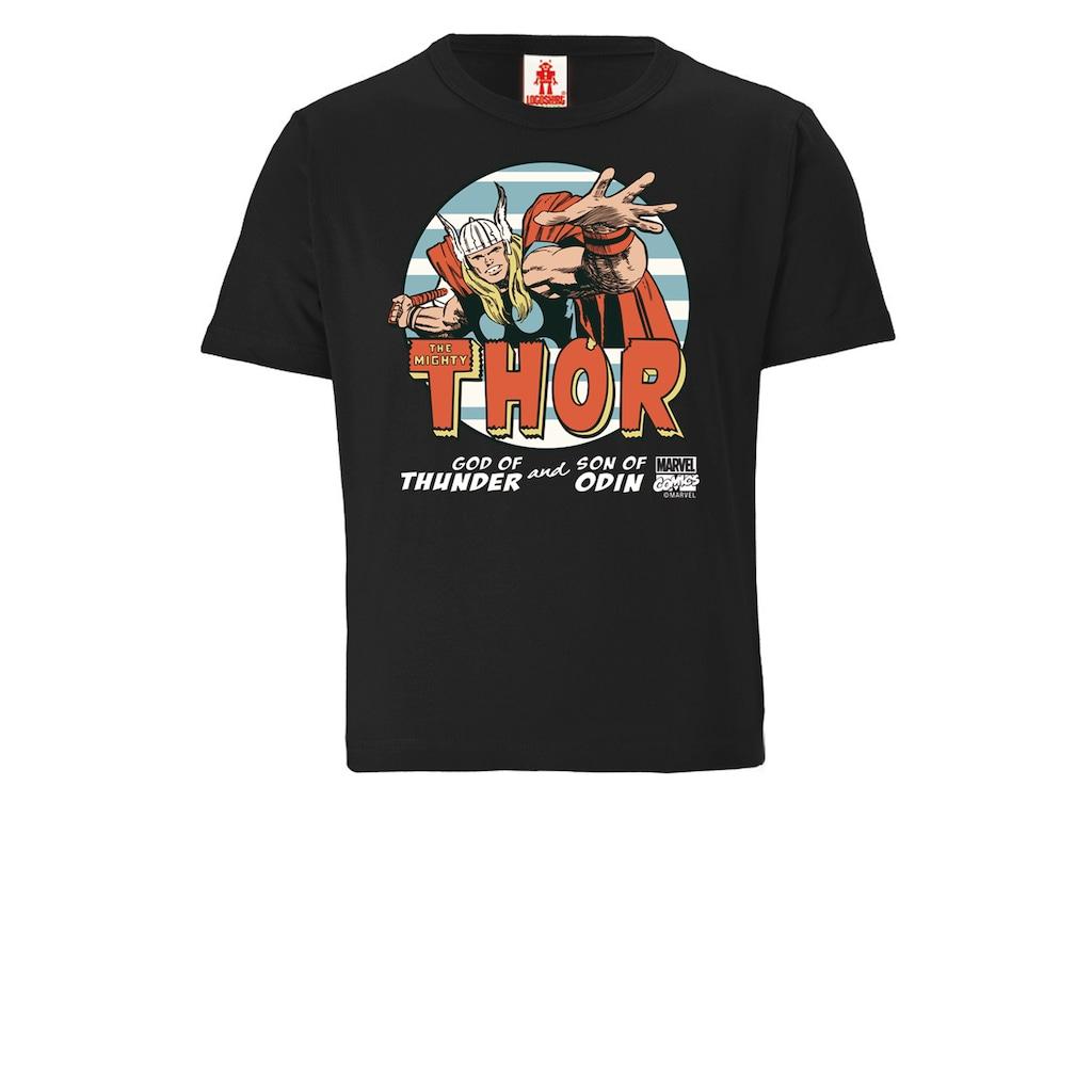 LOGOSHIRT T-Shirt, mit coolem Thor-Frontprint