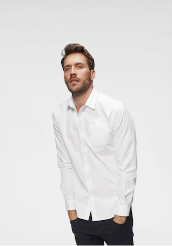 John Devin Langarmhemd, feste Twill Qualität kaufen