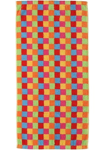 Cawö Saunatuch »Lifestyle Cubes«, (1 St.), mit bunten Karos kaufen